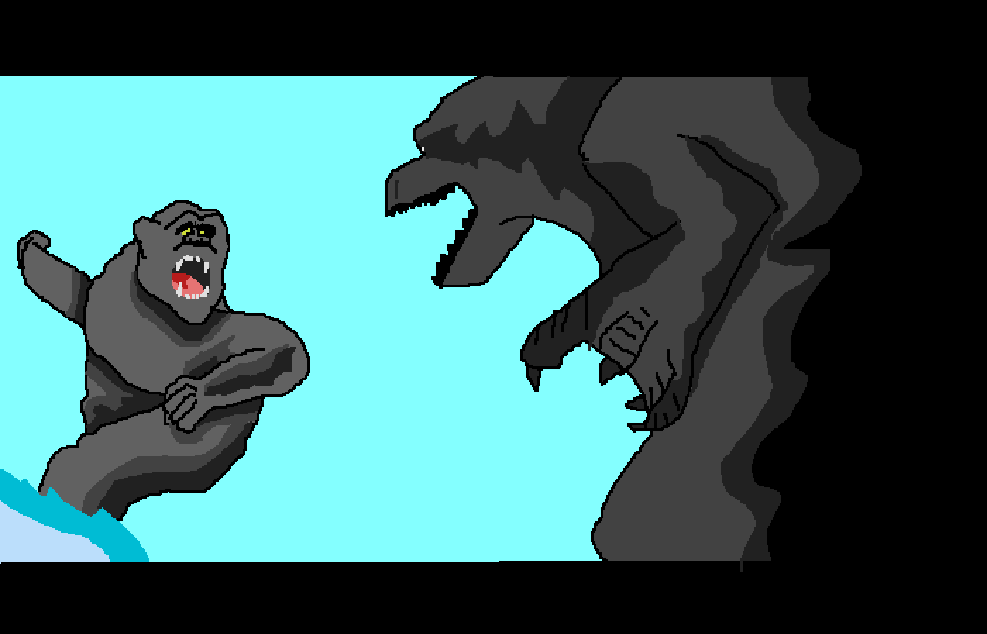 Godzilla vs. King Kong by XenoZombie725
