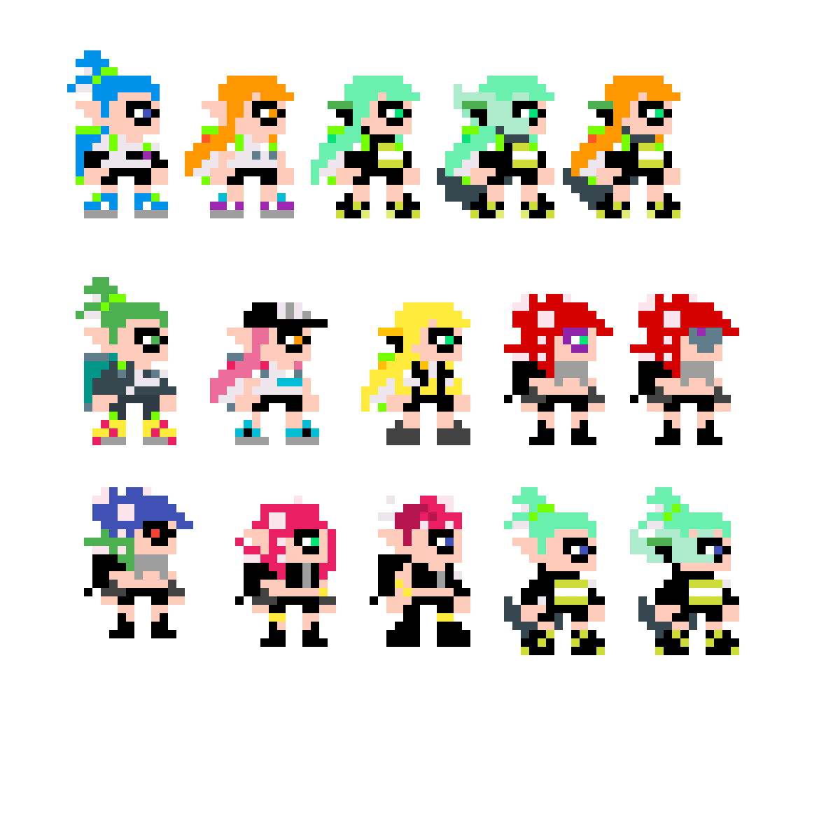 Pixilart Splatoon Agents By Anonymous