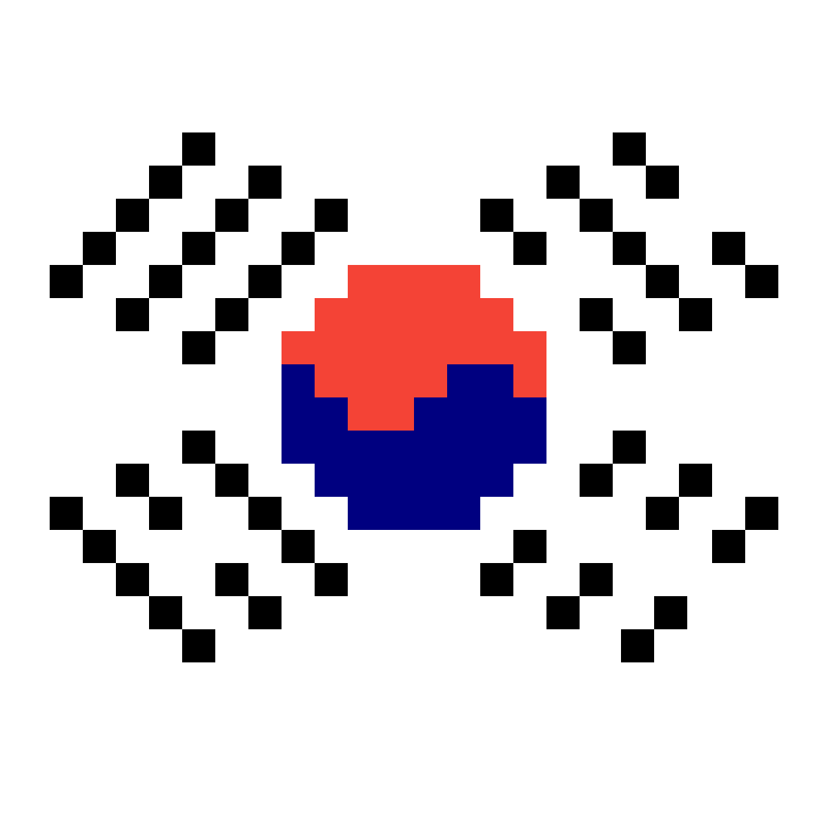 South Korea Flag ?? <3 by pixiered