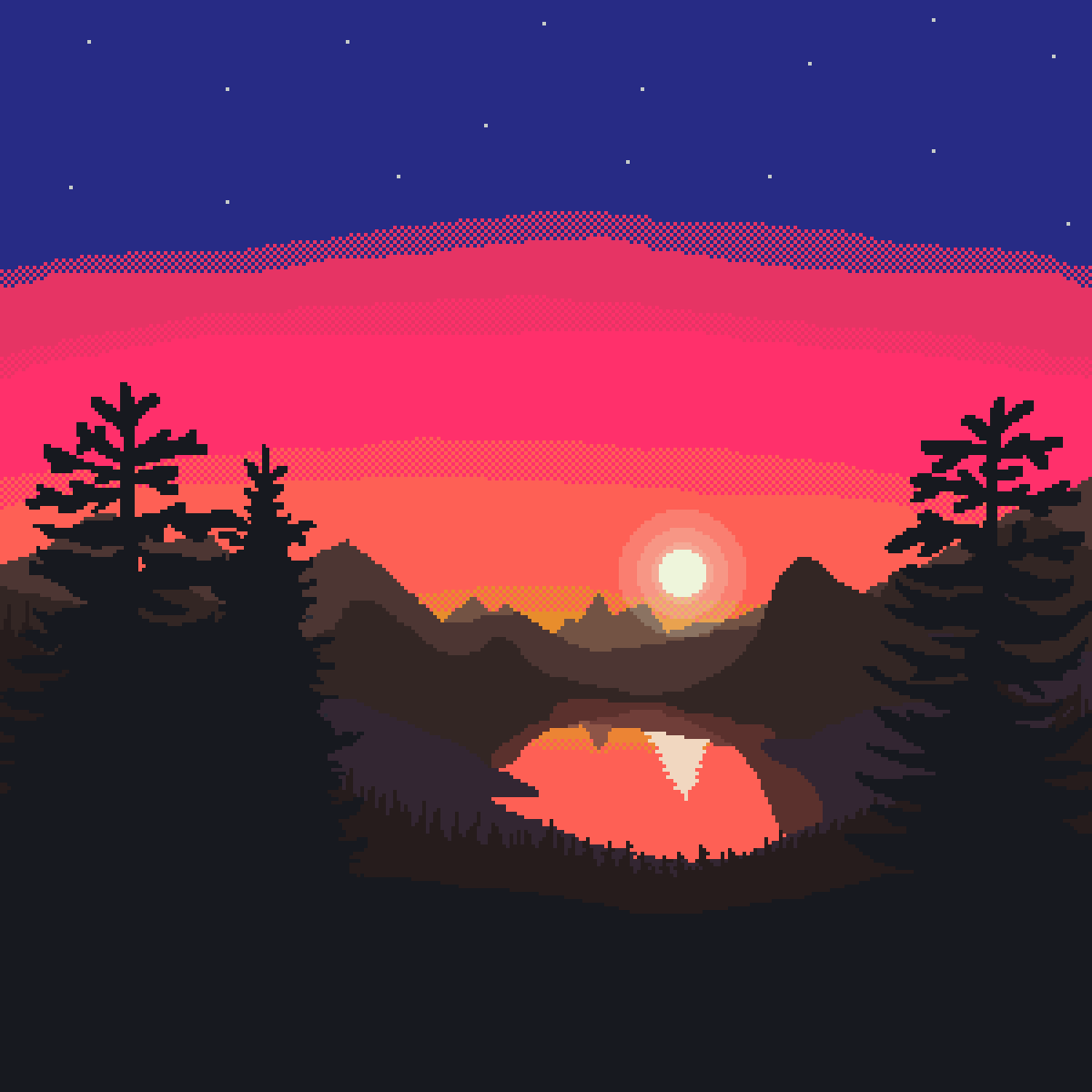 Silhouette Sunset by NotTandy