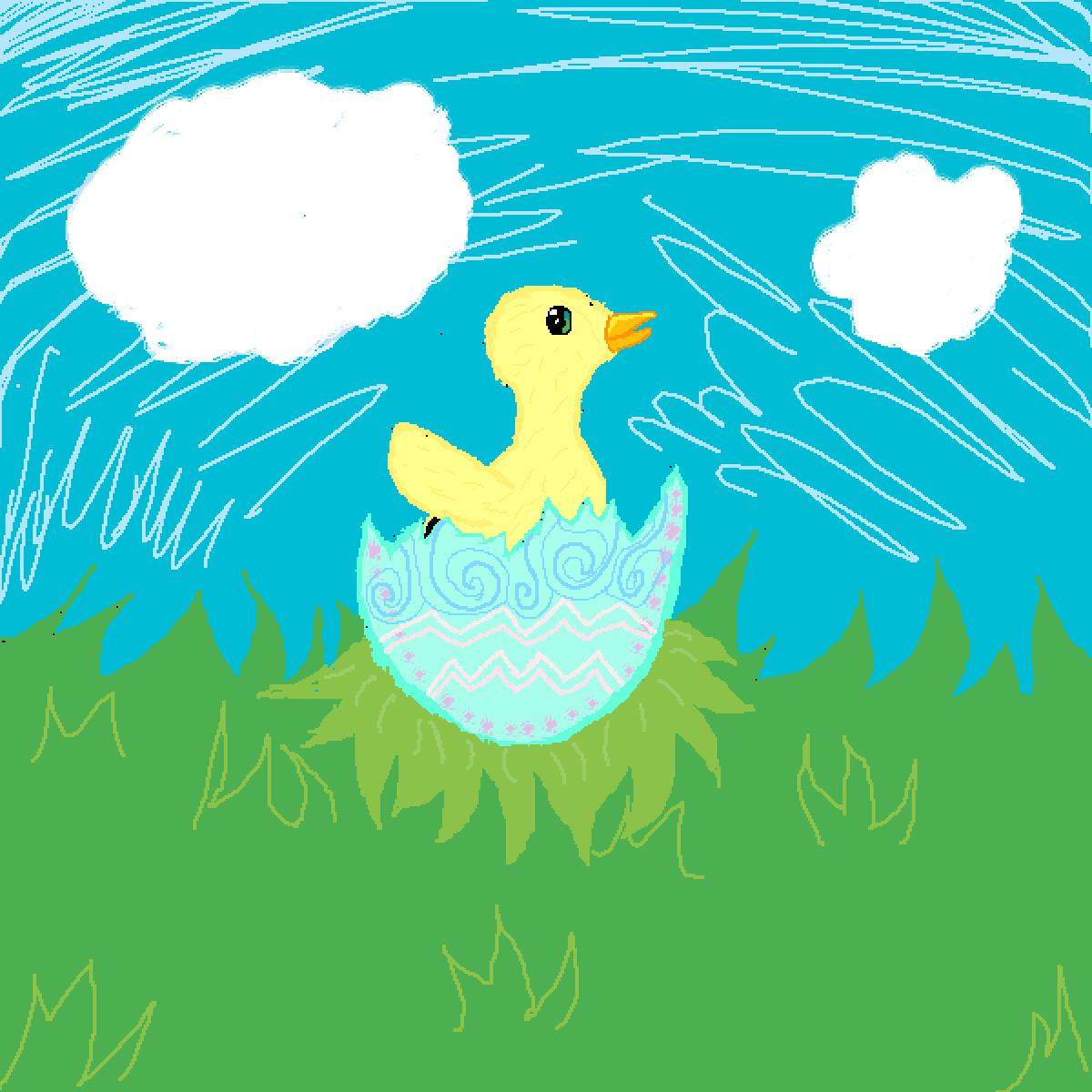 Iz a lil' chickie!  by Kawichu