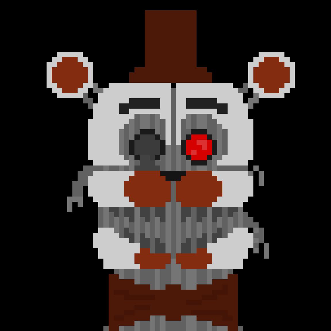 Pixilart - Molten Freddy Head shot by the-comic-ghost