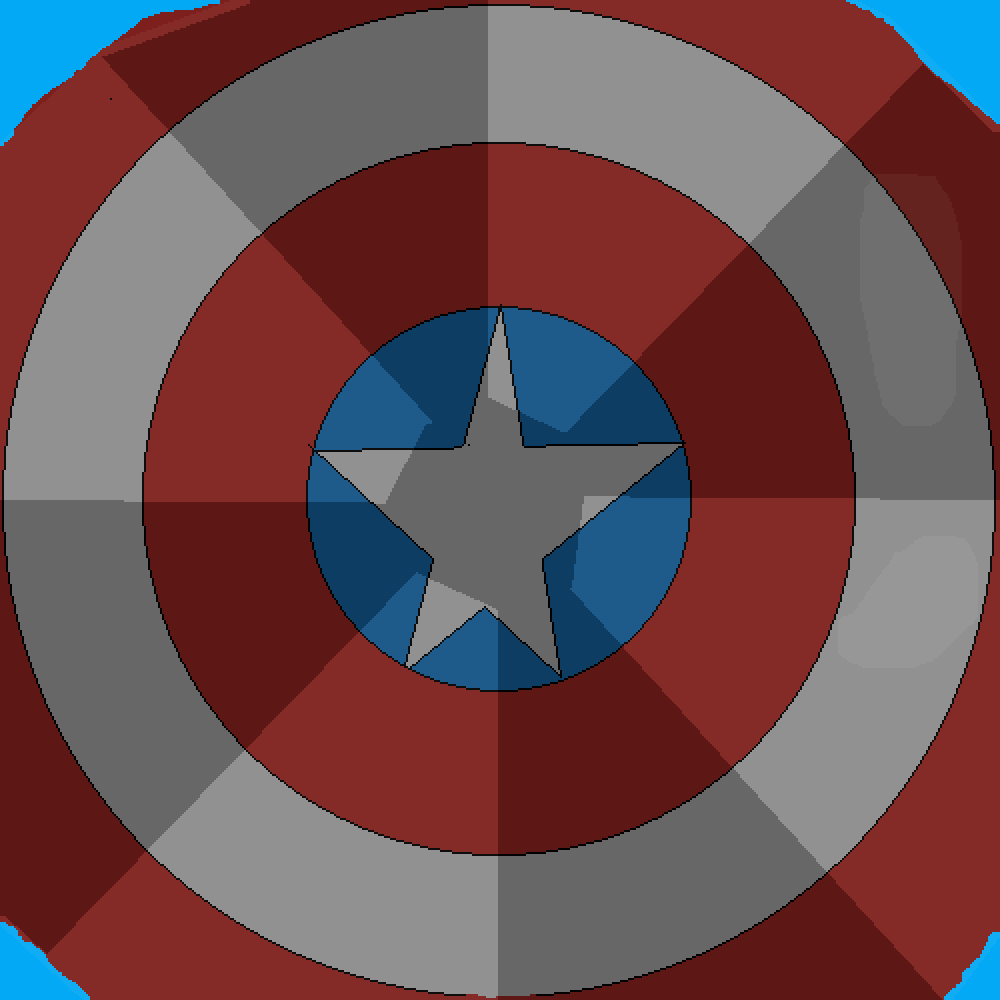 captain america's shield by never-real