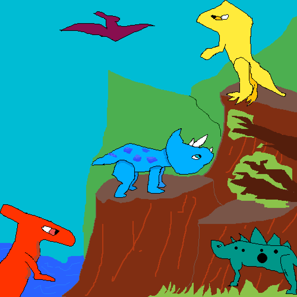 main-image-some colorful dinosaurs  by Pinguinos10