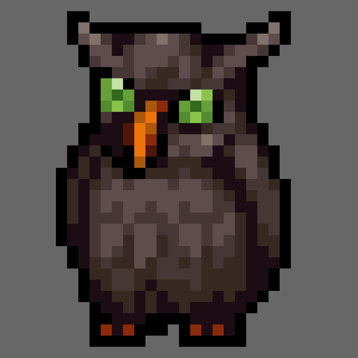 Beedy Owl by LemonCurdleArt