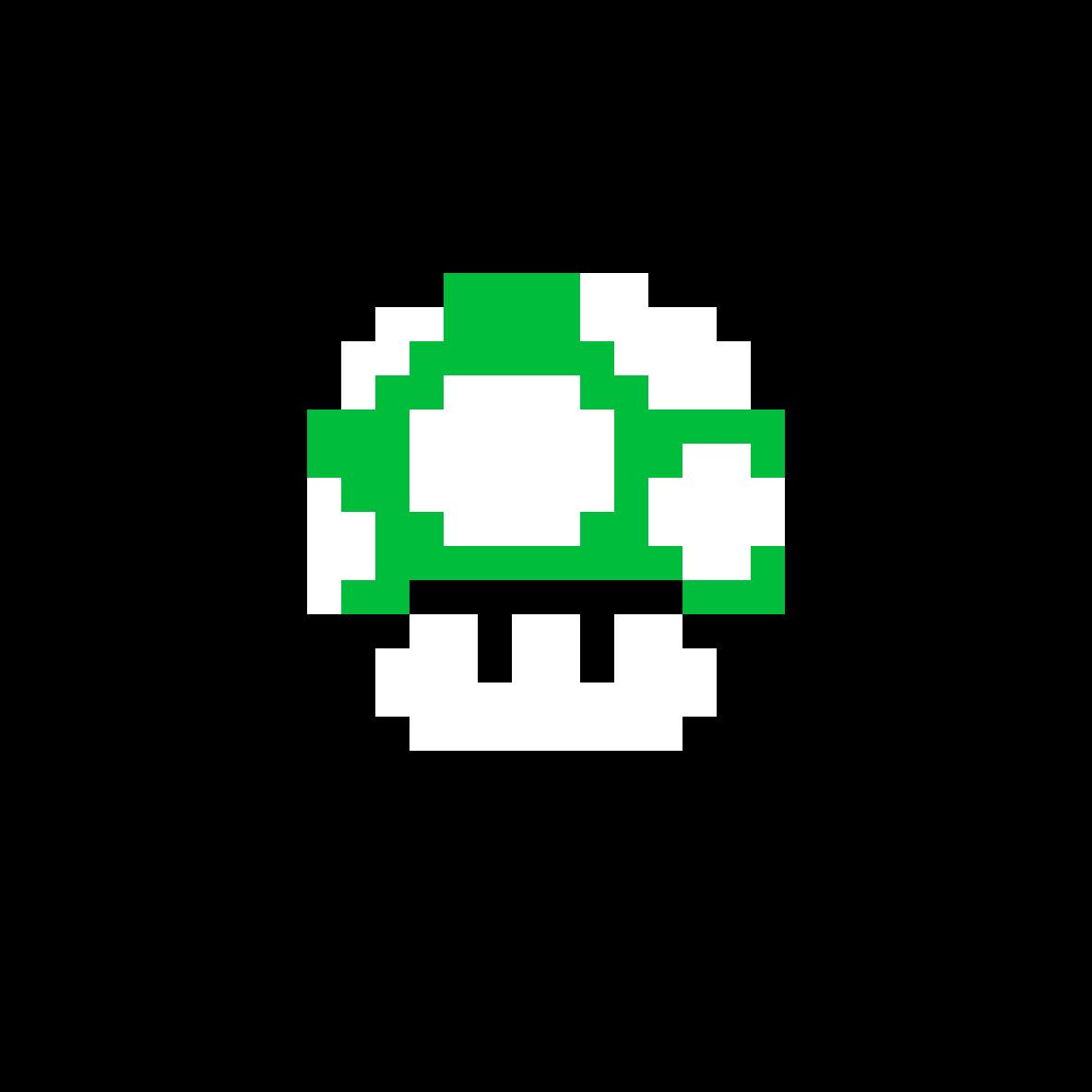 Super Mario Bros Green Mushroom by Insano