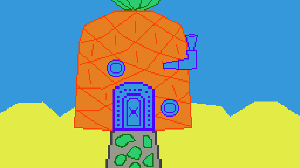 Pixilart Spongebob S House By Unknownshadow27