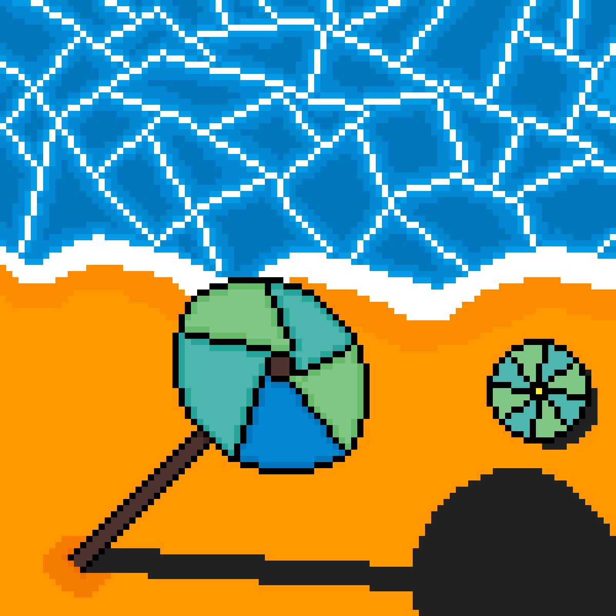 Ocean Next To A Beach by WenWanTin