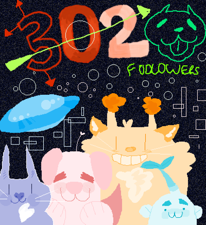 302 followers ^^ by catbox