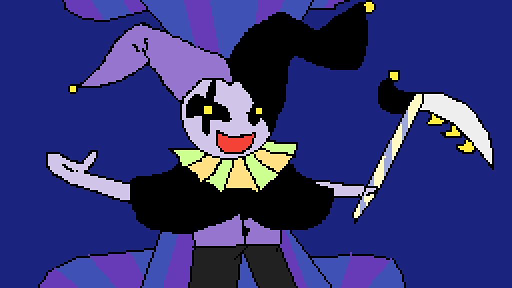 Jevil from deltarune by Anya-Auxentia