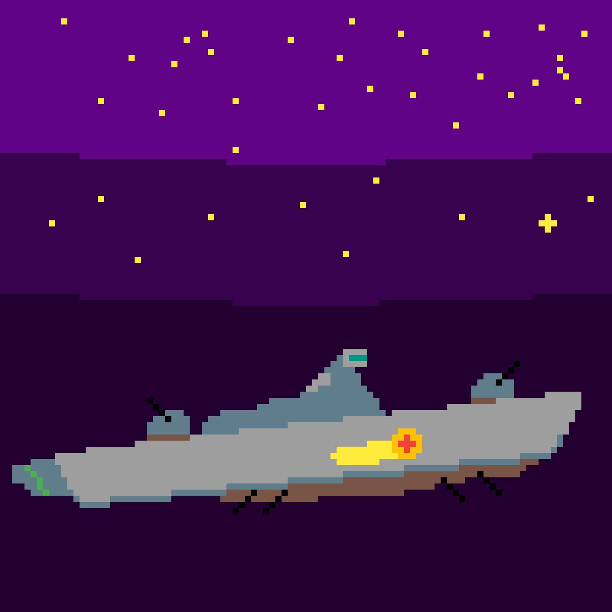 night flight by LucasoDelta
