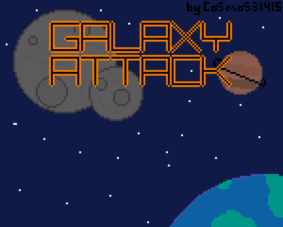 Galaxy Attack Title Screen by Cosmos16
