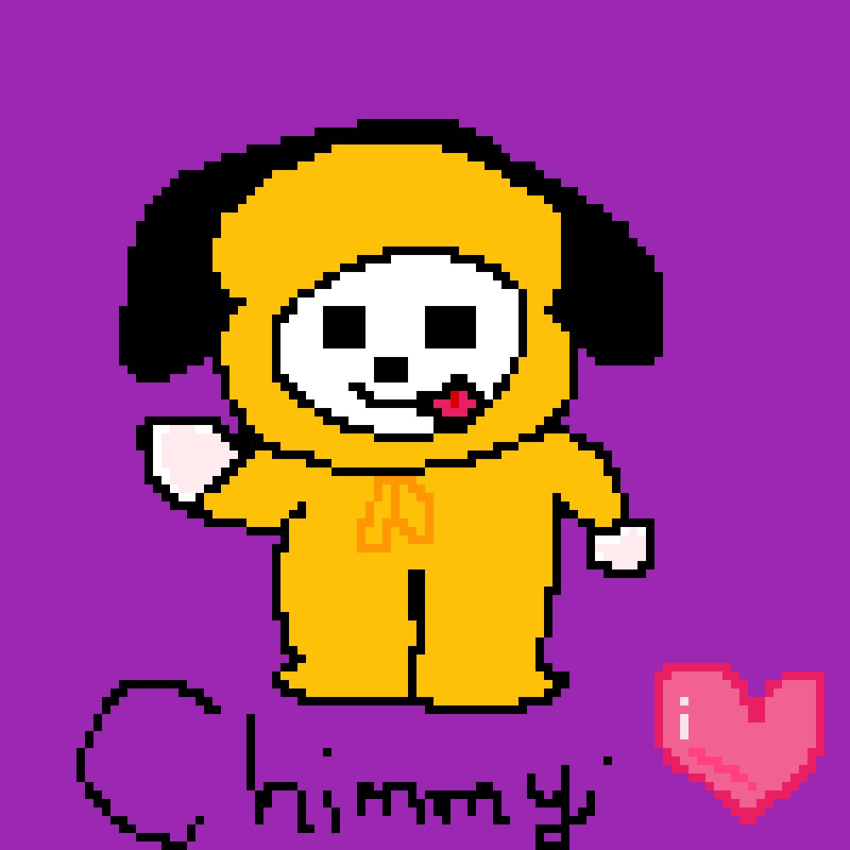 Pixilart - BTS (Jimin Chimmy) BT21 by Ghostly13