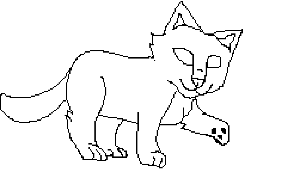 Cat/warrior cat base by Meekly