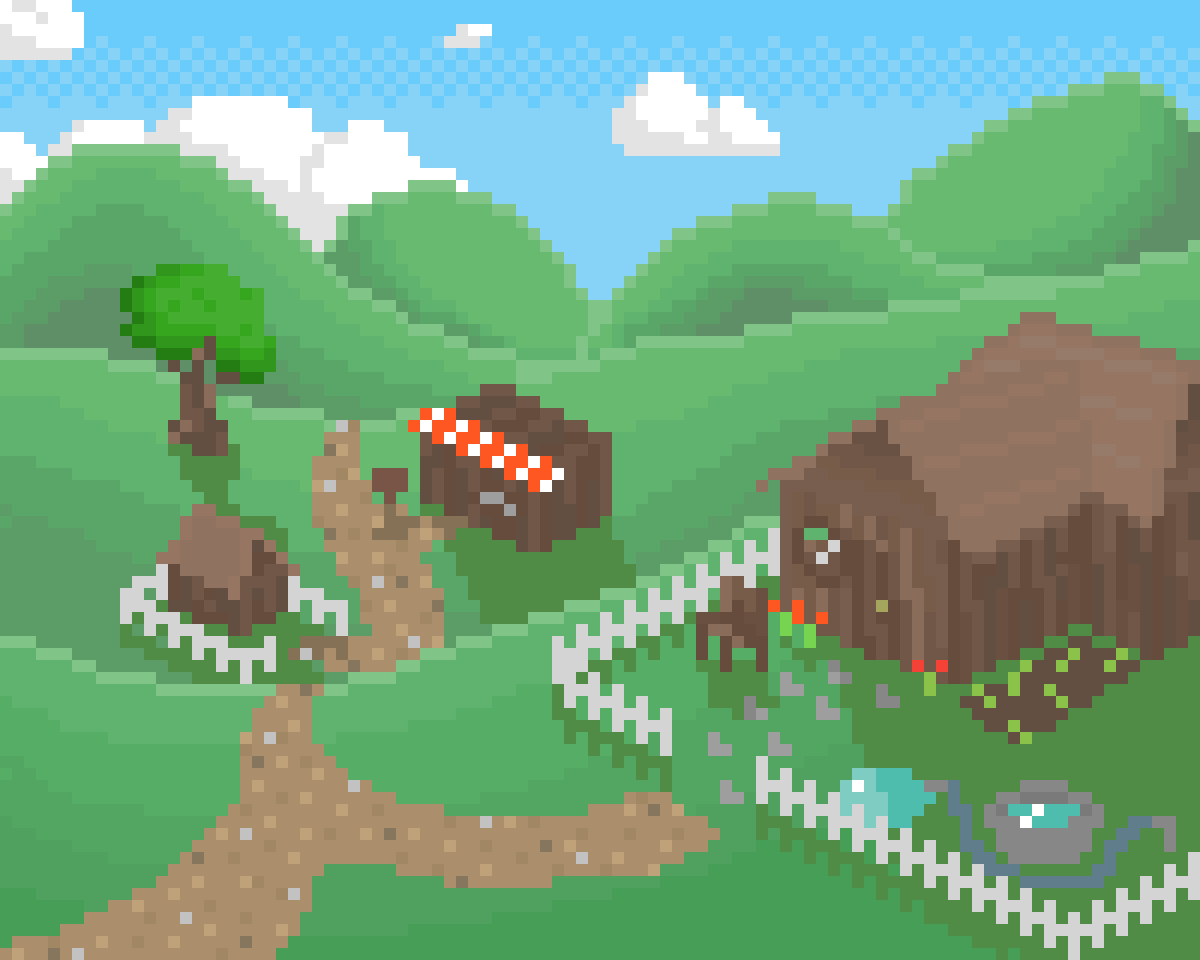 Village of The Rolling Hills by Floof
