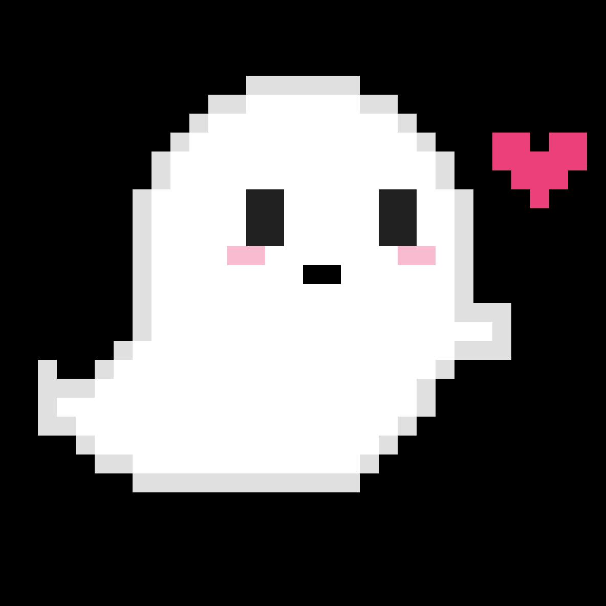 Cute Pixel Ghost By PixelStar