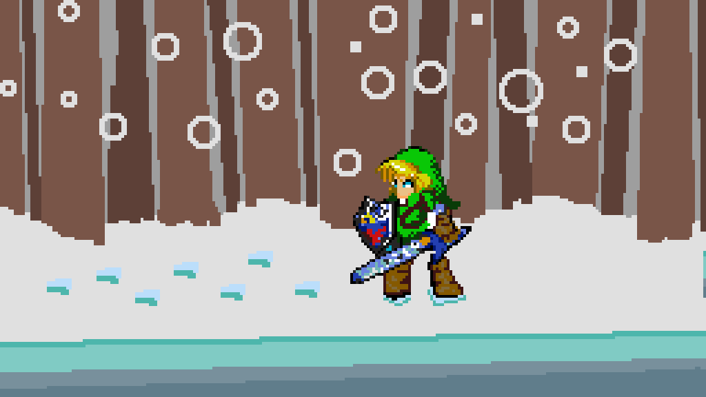 Pixilart - forest fight (the legend of Zelda) by cralikefox999