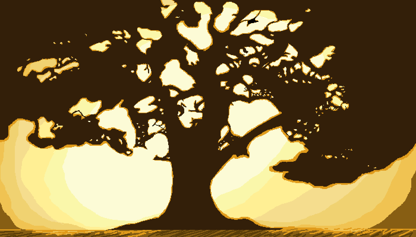 Fig tree bathed in golden light