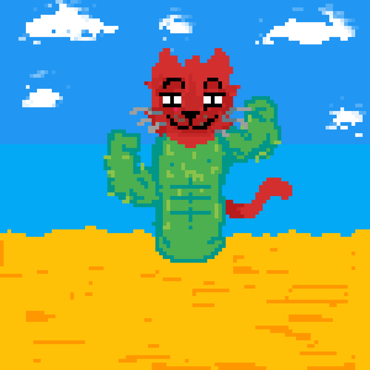 CAT-tus (very macho cactus)  by yesduhh