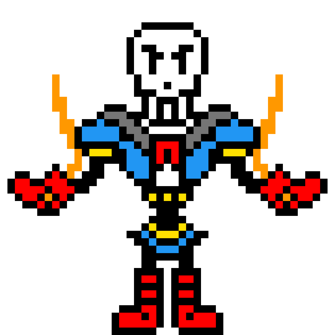 Pixilart - Disbelief Papyrus (Phase 5) by DemonDJ7