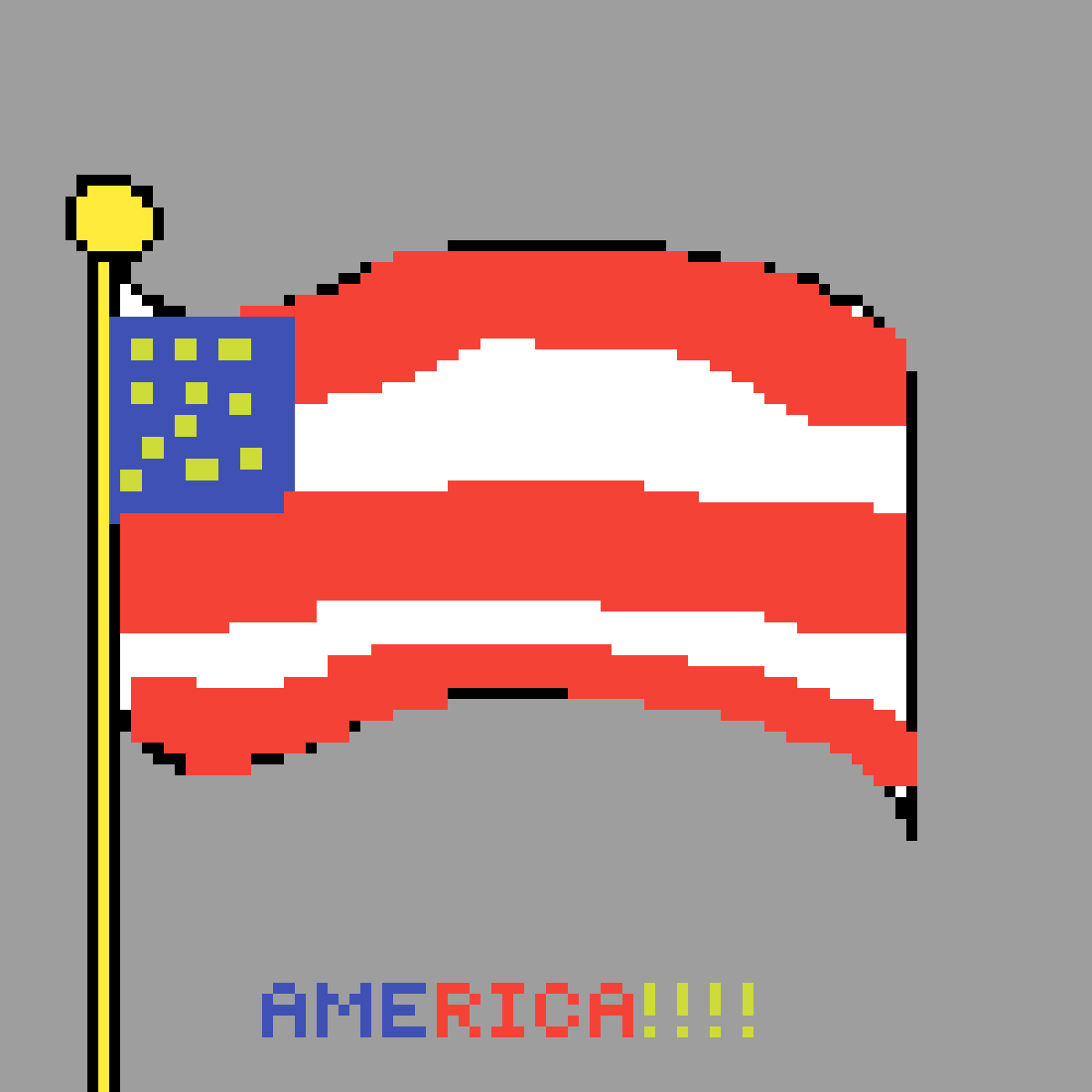 american flag by Winterqueen2341