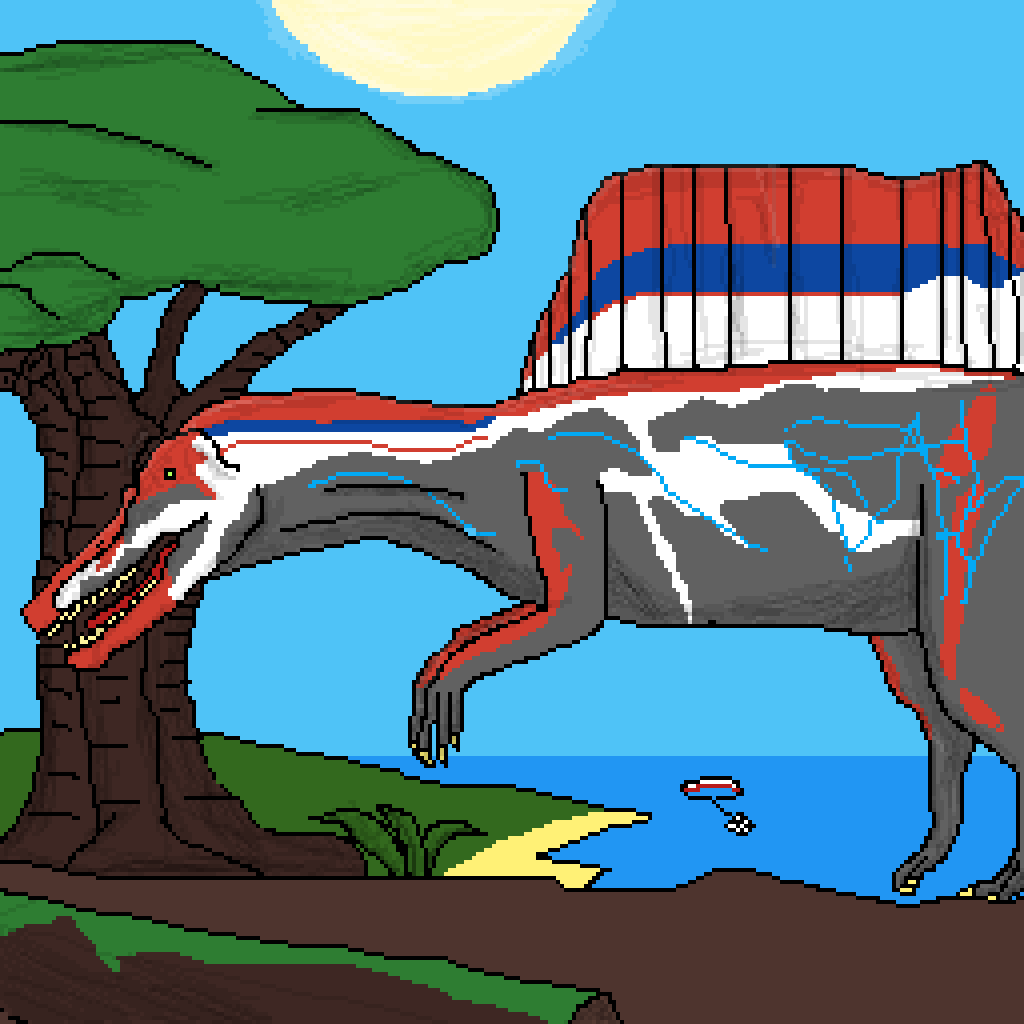Spinosaurus in plateau by dino-drawing