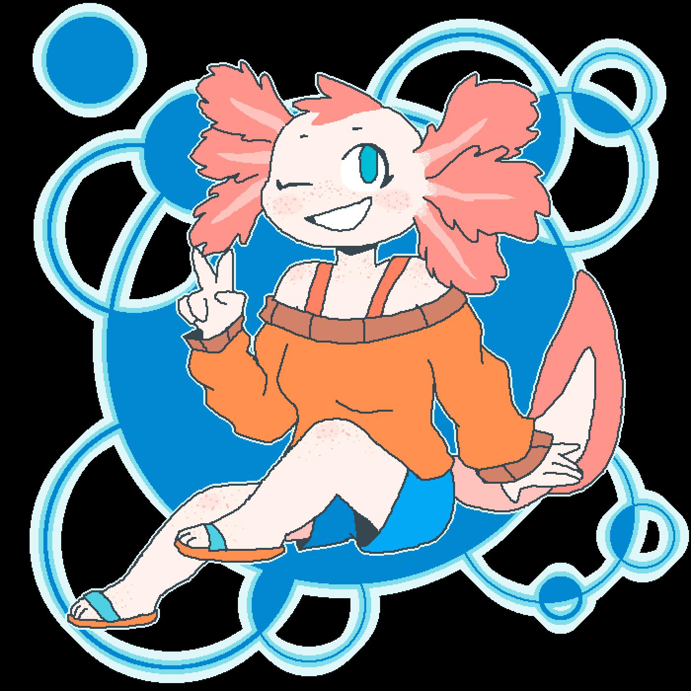 main-image-Kitti's Axolotl Girl  by Dopey-Dragonite