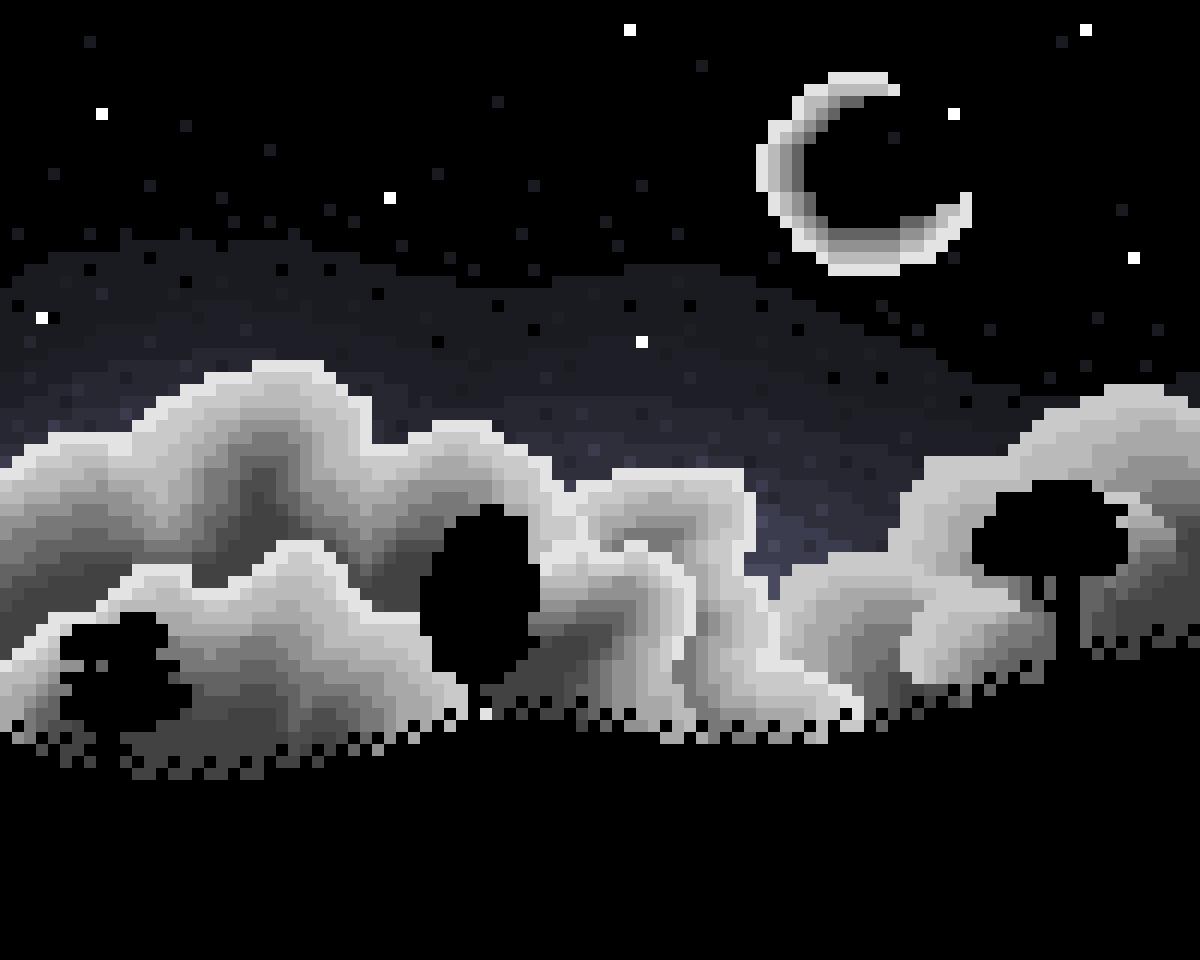Nighttime Landscape by Floof