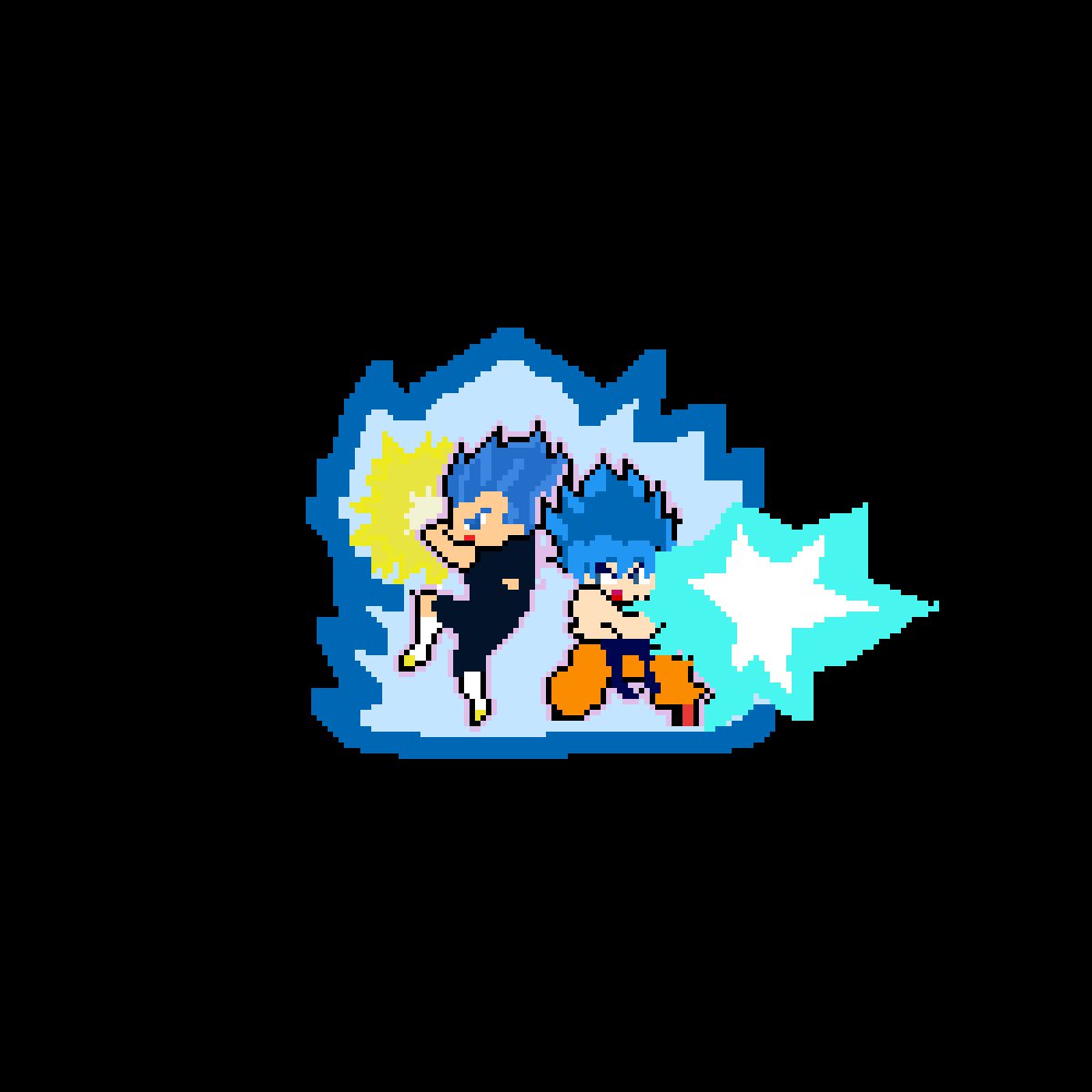 Goku and Vegeta (Blue)