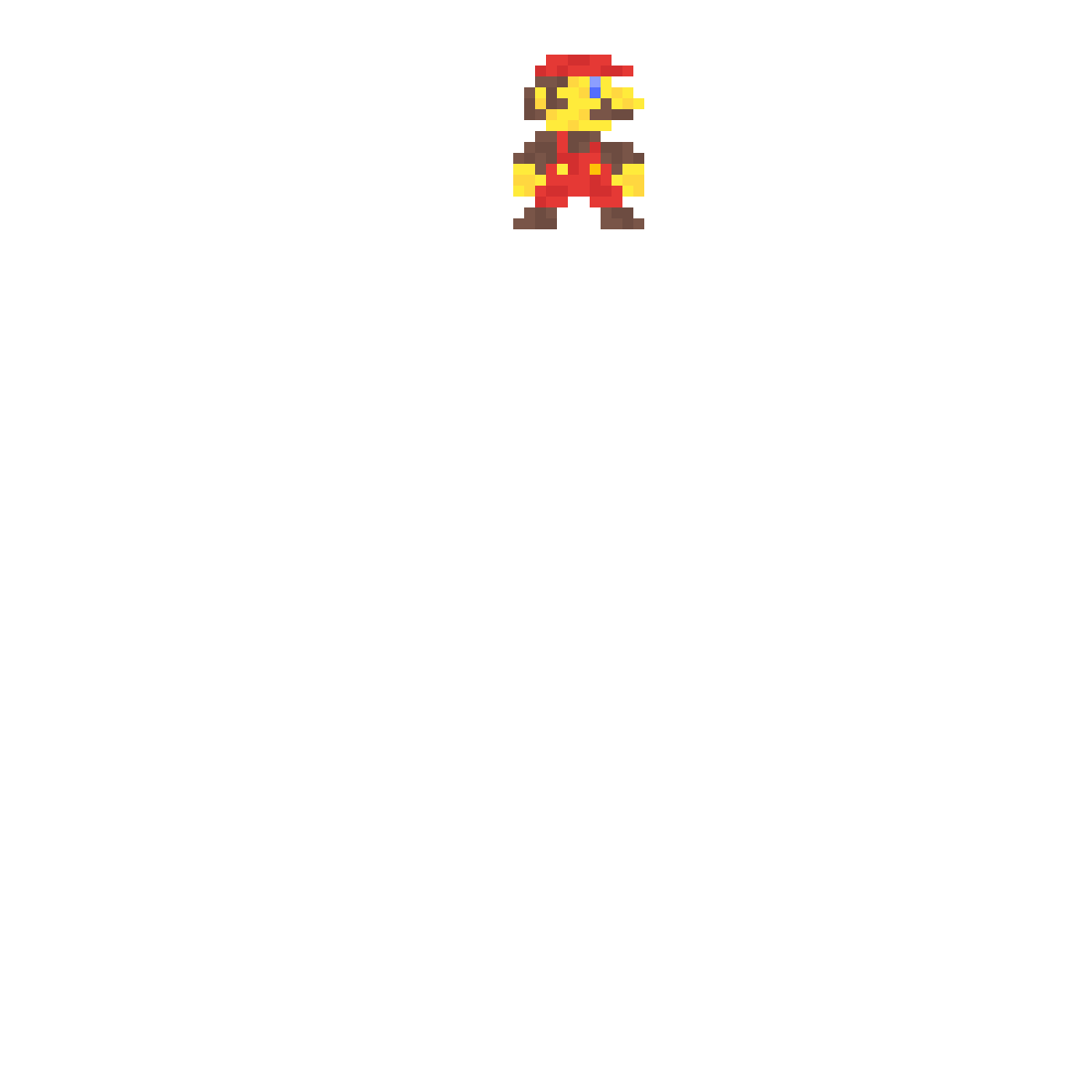 Detailed 8-bit Mario by Minuteqade