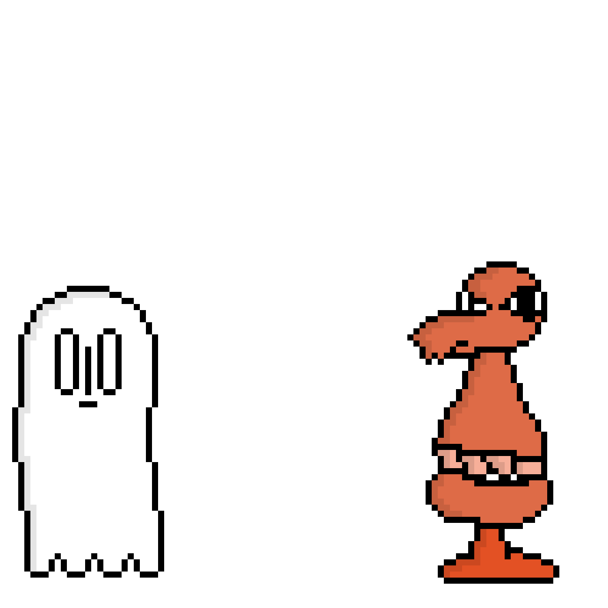 improved napstablook and mad dummy sprites by Bandanfan