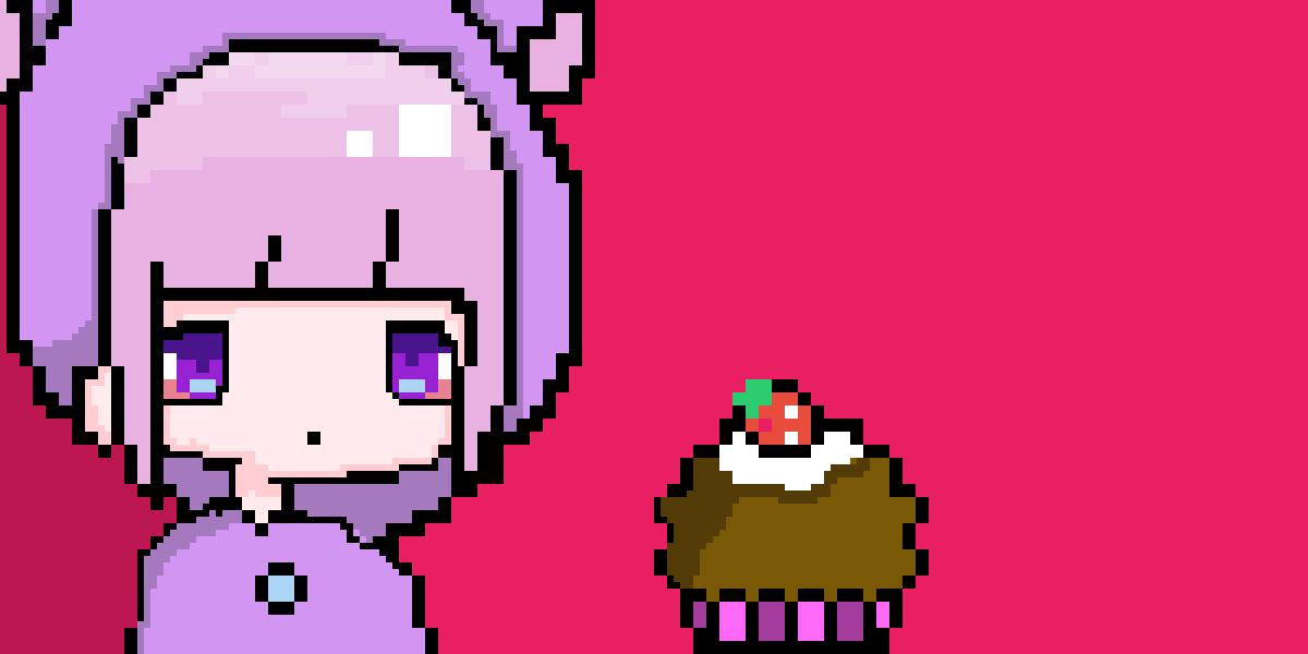 girl and cupcake by NaikaC