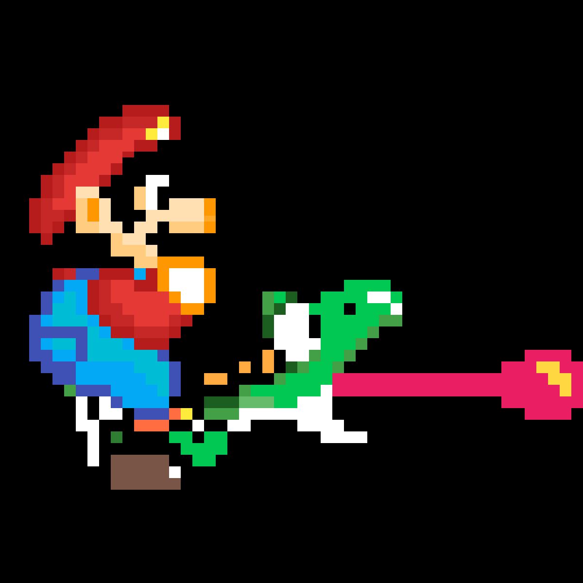Yoshi Mario Pixel 1 By Anonymous