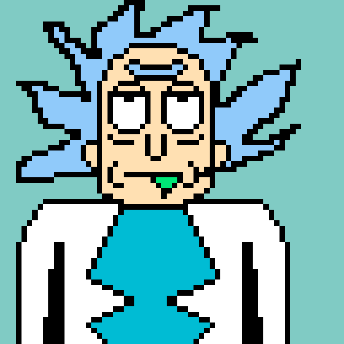 Rick from rick and morty  by Xdshadowwolfy