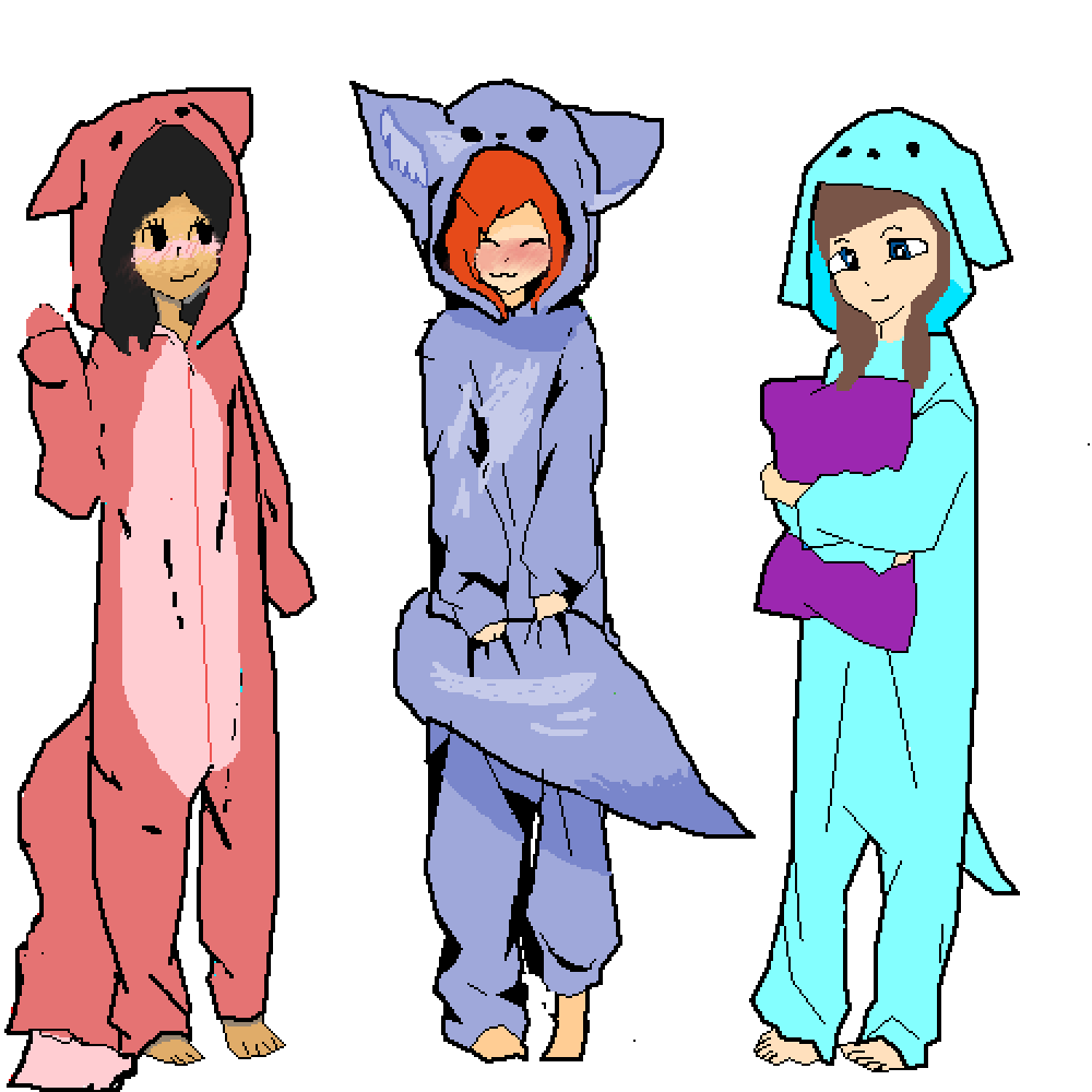 pajama party by XXGamerWolfXX