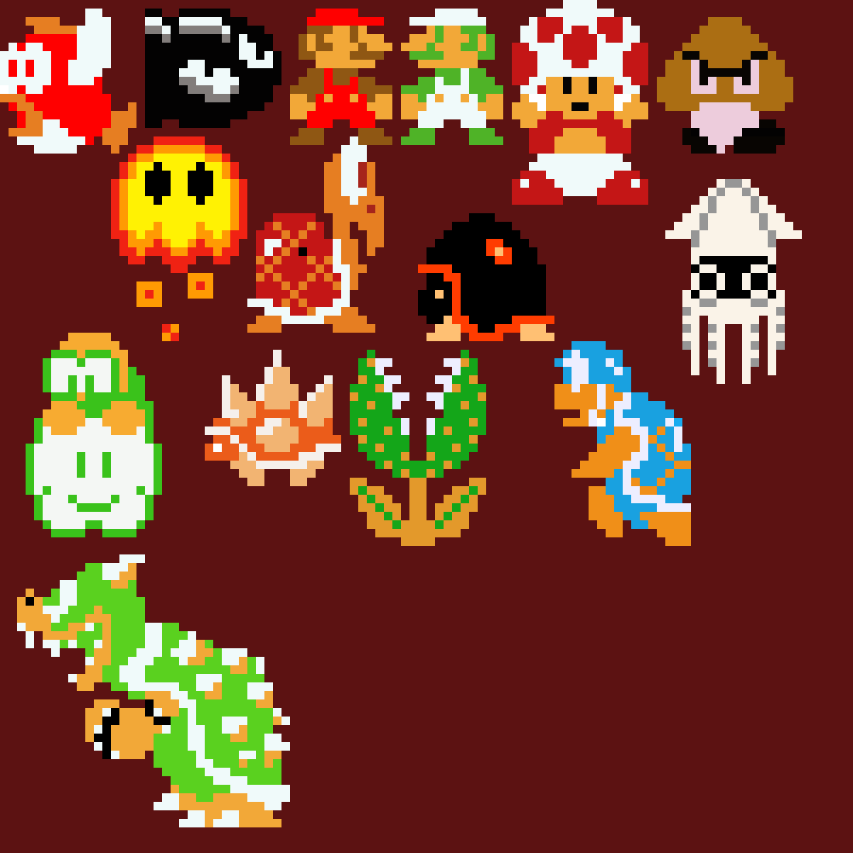 main-image-Super Mario Bros. 8-Bit  by GoldH2O