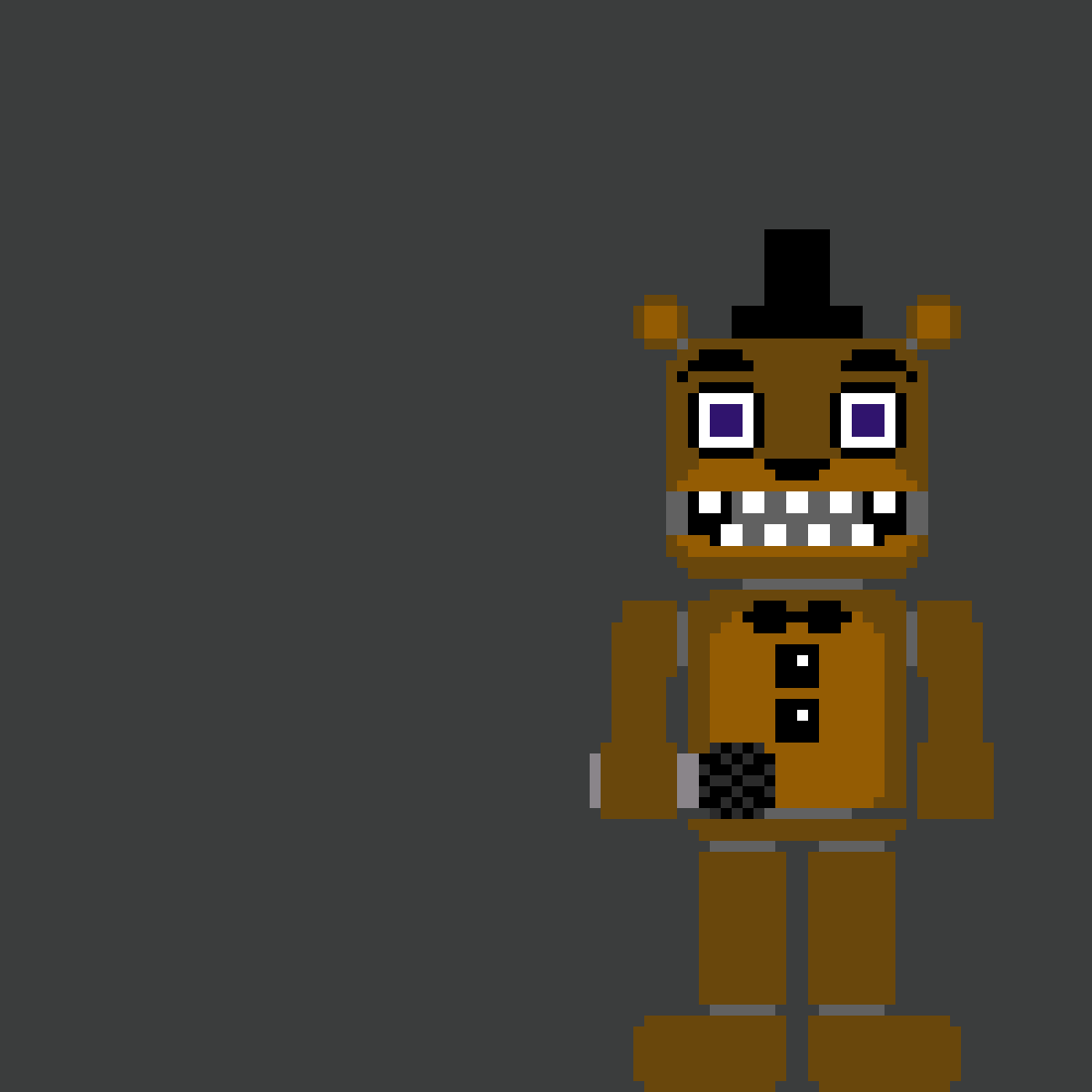 Pixilart - pre-withered freddy sprite by MEMELOR2