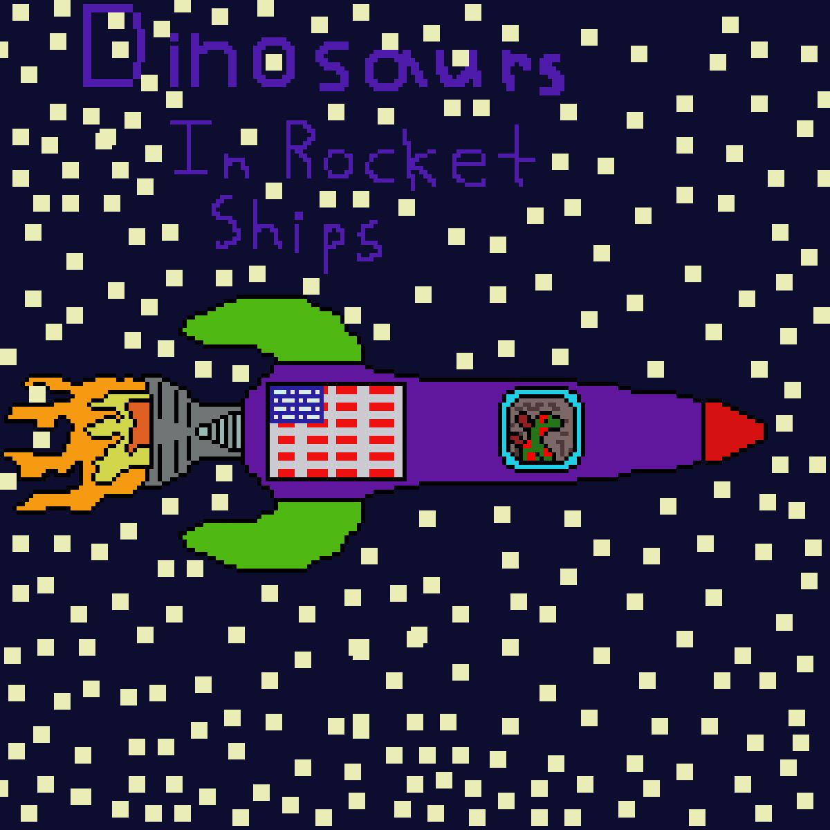 main-image-A stegosaurus in a rocket ship: (Dinosaurs in rocket sh  by GoldH2O