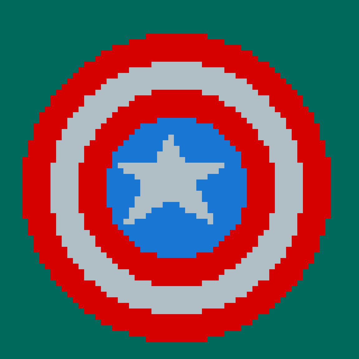 Captain Americas shield by Princesscara
