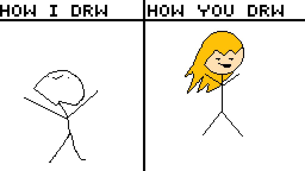Stick figure I draw You draw by NoobsDotcom