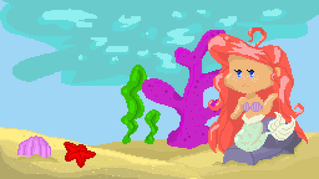 Ariel w/ backround by SleepyKitten12