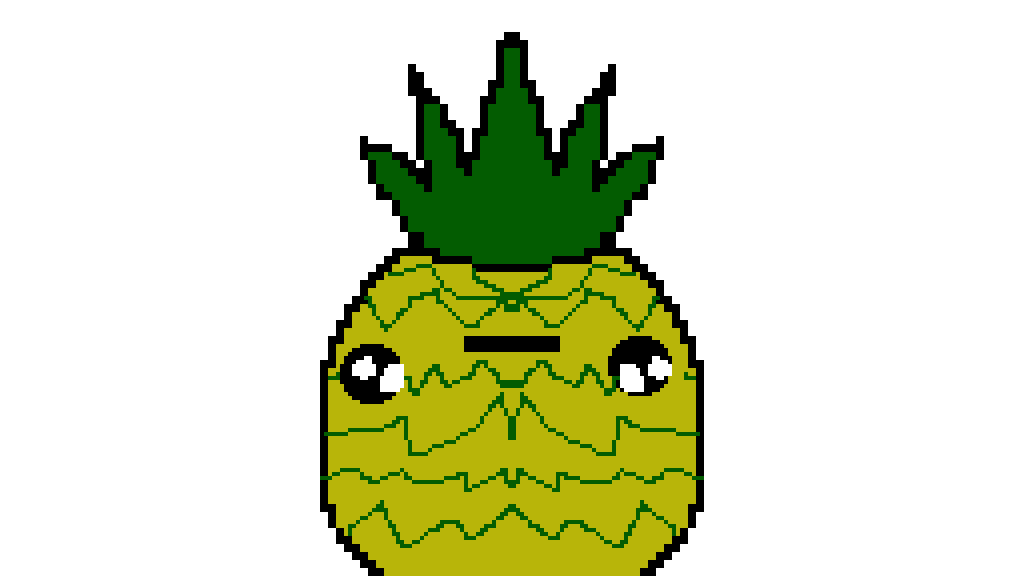 Pixilart Kawaii Pineapple By Elise Schalk