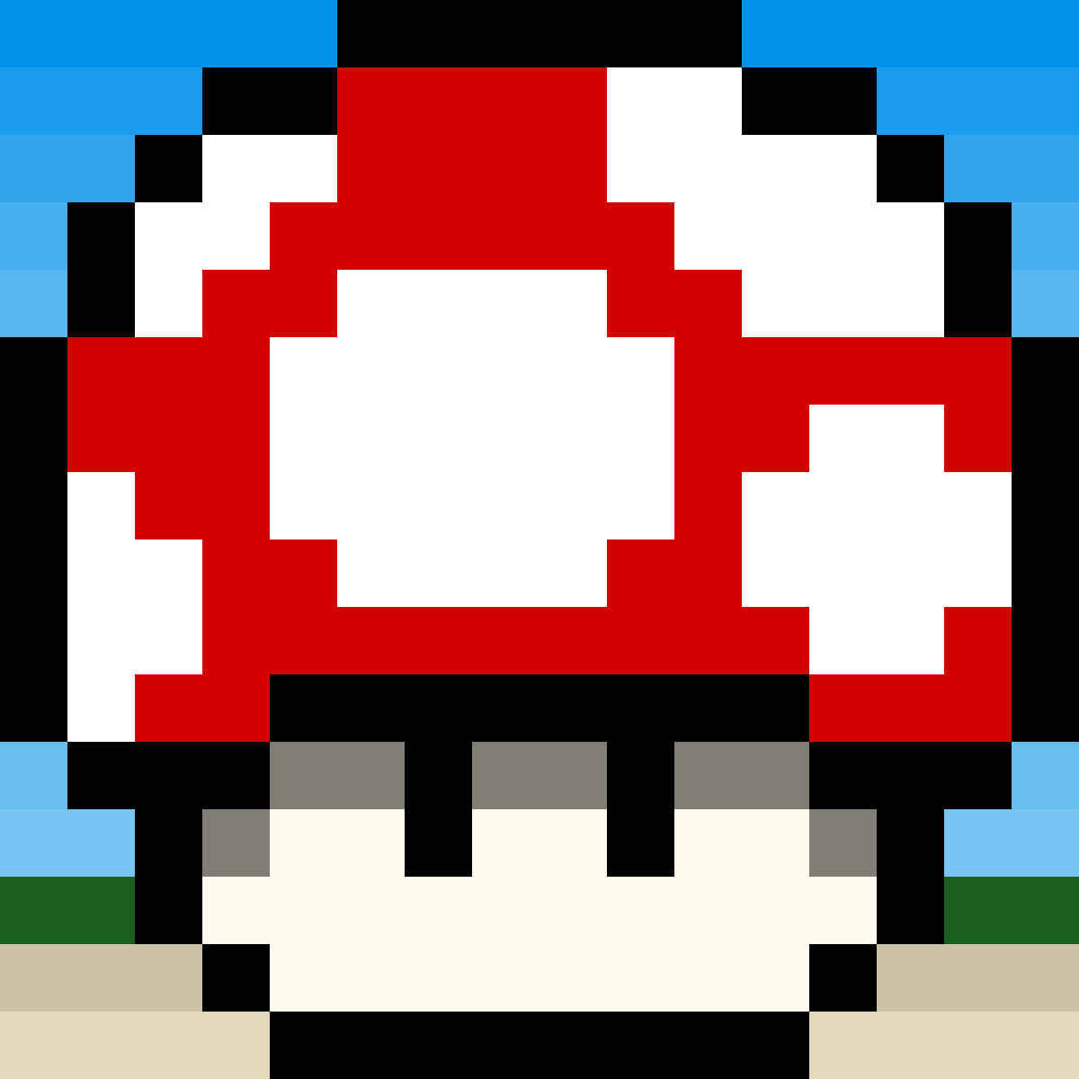 Mario Mushroom by dino-drawing
