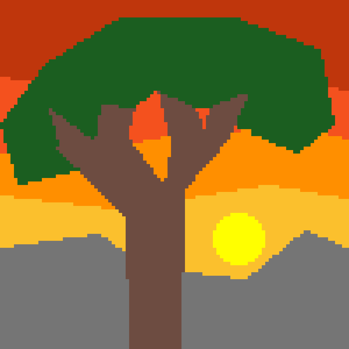 Sunset Tree by Bnus