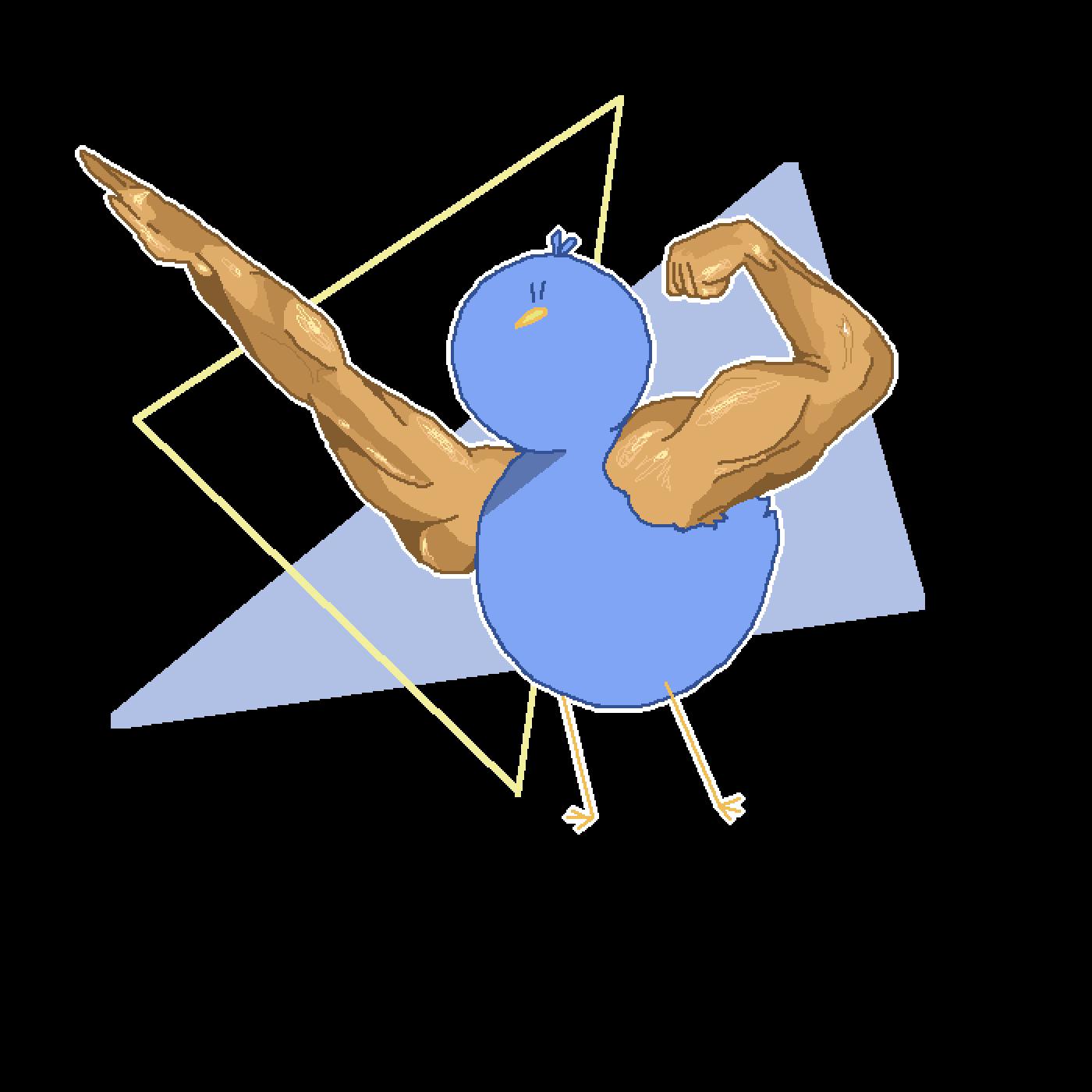 Muscle bird bro  by Pixilsans
