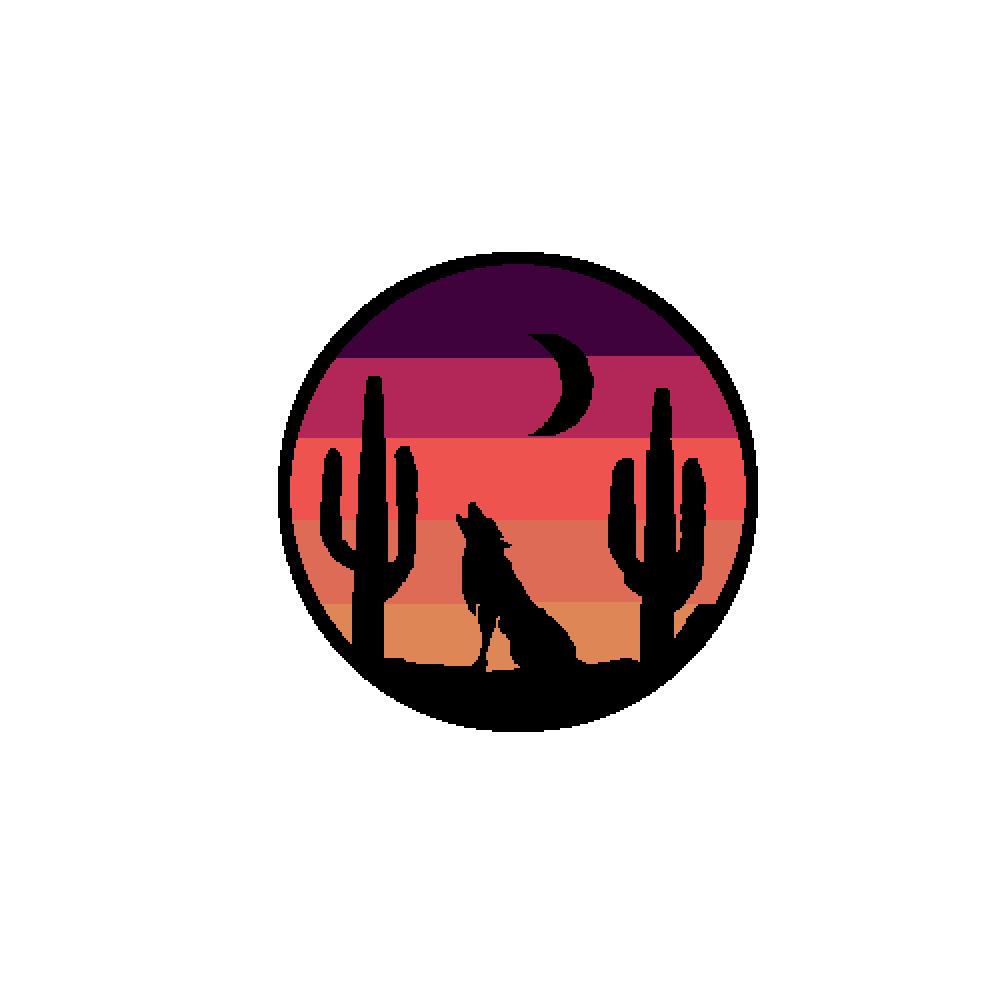 Wolf Sticker (TRACED) by Opoxizz