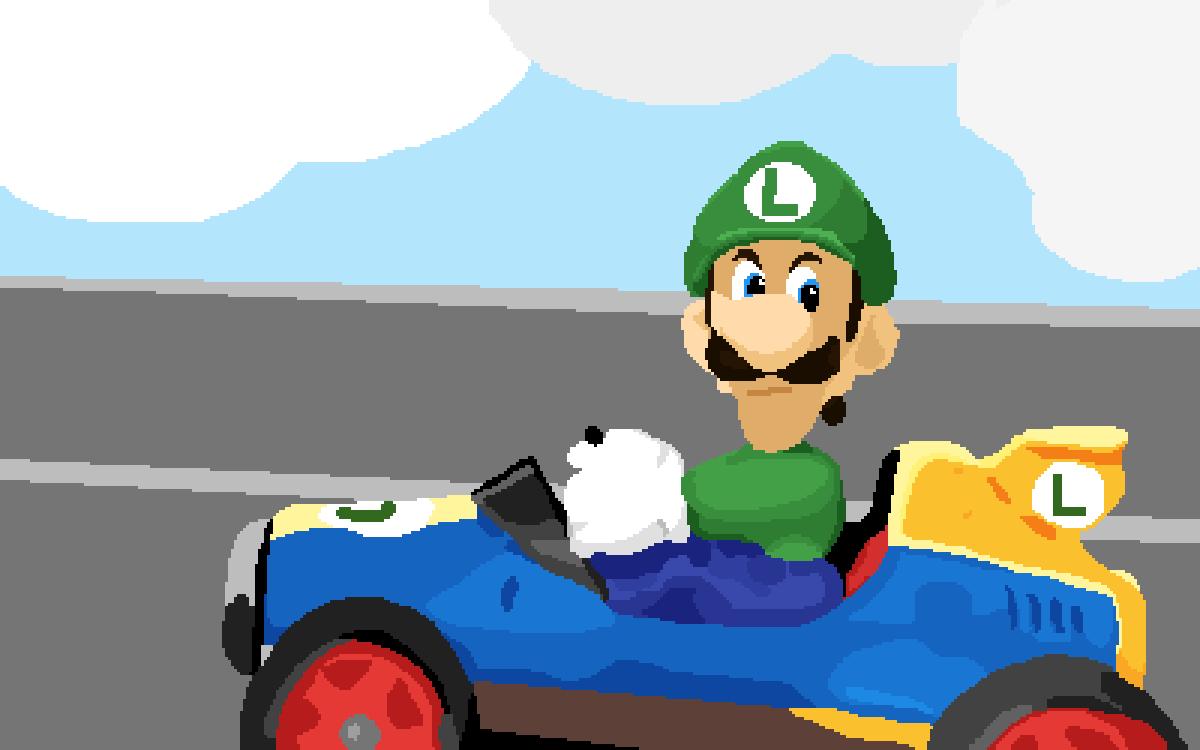 Pixilart Luigi Death Stare By Master Ducky