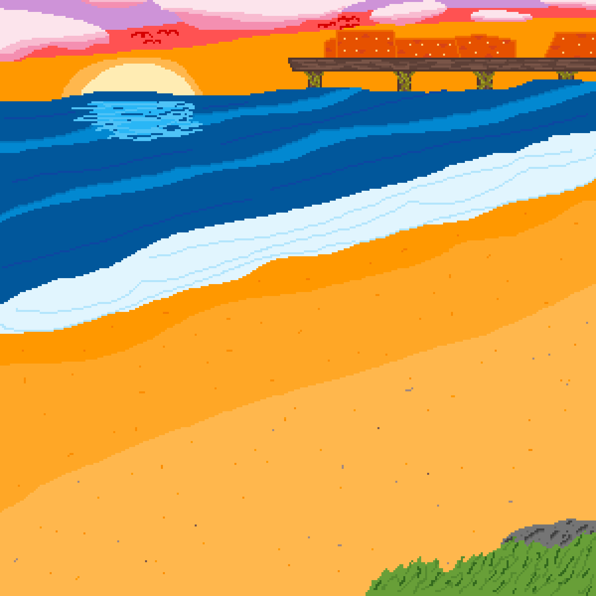 beach sunset. by Indie4caps