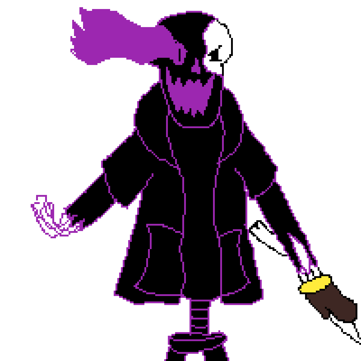 Pixilart - dunktale disbelief papyrus phase 2 by Anonymous