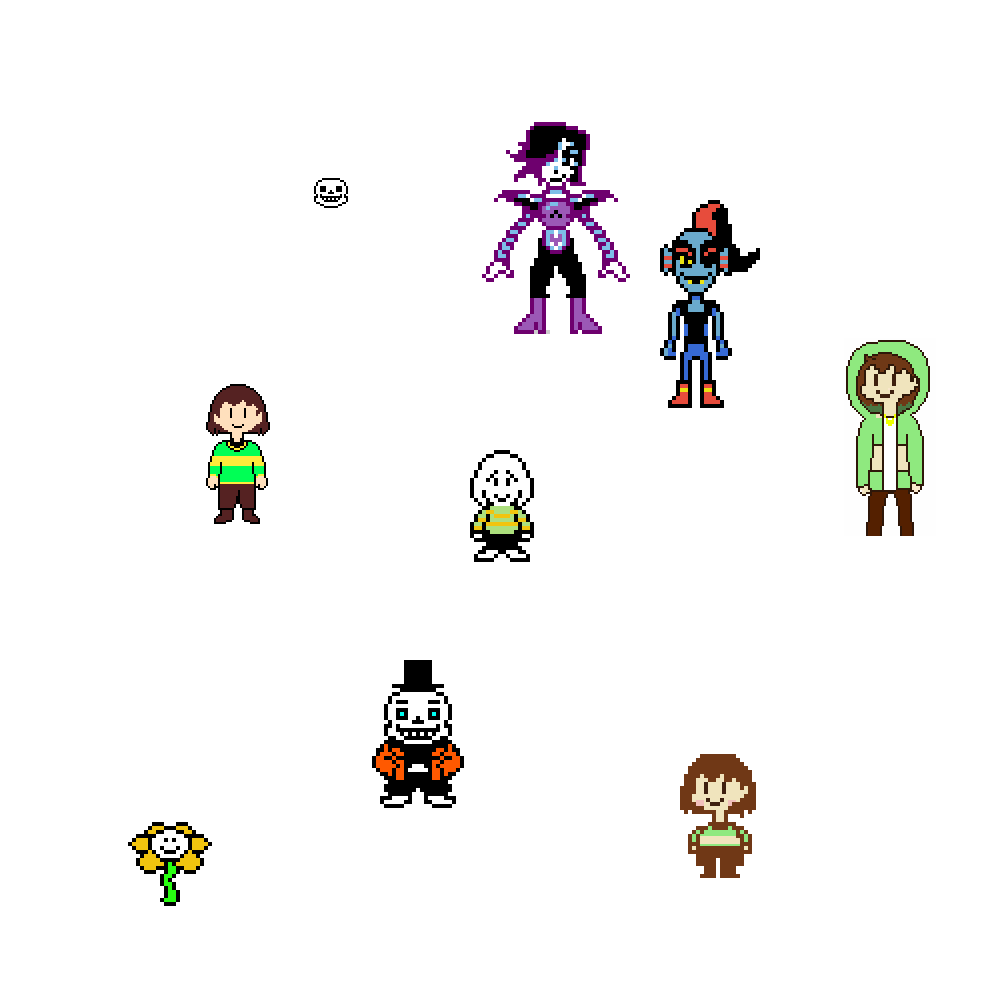 Undertale stamps by NoodleCrona2D